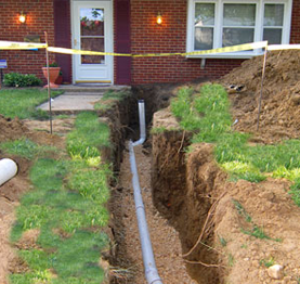 Main sewer line cleaning